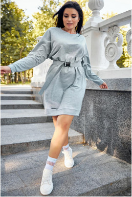 Сіре плаття великих розмірів в спортивному стилі