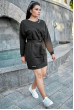 Чорне осіннє спортивне плаття для повних жінок