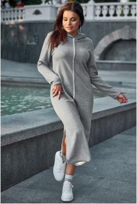 Сіре стильне спортивне плаття великих розмірів