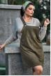 Жіночний сарафан кольору хакі для повних жінок