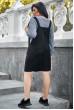 Чорний привабливий сарафан великих розмірів