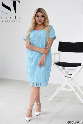 Блакитне універсальне плаття з прошви