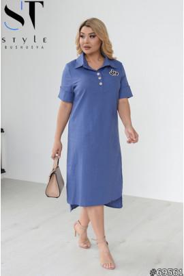 Практичне жіноче плаття джинсового кольору