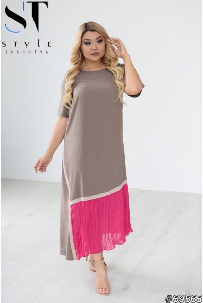 Елегантне вишукане плаття кольору какао