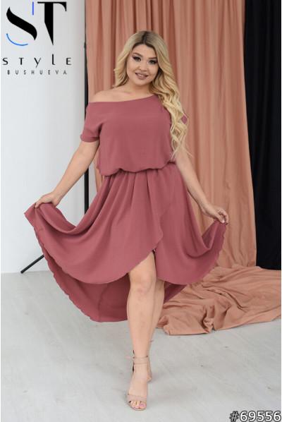 Дивовижне витончене плаття фрезового кольору