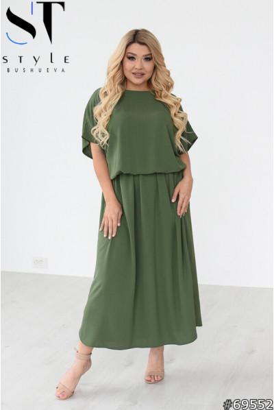 Стильне універсальне плаття кольору хакі