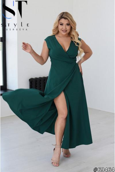 Грайлива ошатна сукня кольору пляшка