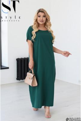 Актуальна витончена сукня максі кольору пляшка