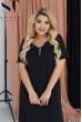 Чорна повсякденна зручна сукня великих розмірів