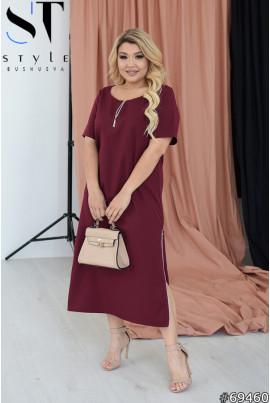 Сучасна дивовижна сукня кольору марсала