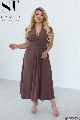 Неймовіірно ніжна сукня кавового кольору