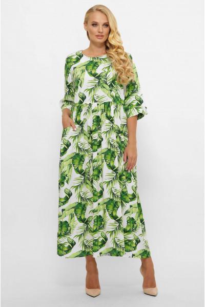 Зелене яскраве плаття максі великих розмірів