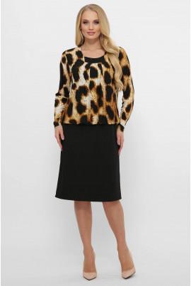 Тигрове трикотажне універсальне плаття великих розмірів