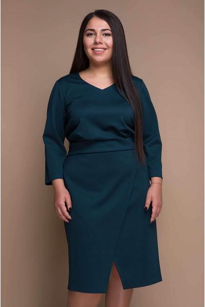 Темно-зелене актуальне жіноче плаття великих розмірів