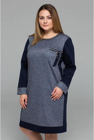 Темно-синя універсальна сукня в спортивному стилі