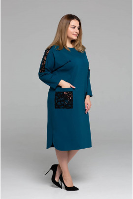 Базова зручна сукня міді кольору морської хвилі