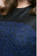 Темно-синя лаконічна сукня для жінок з пишними формами