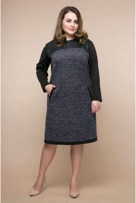 Сіра оригінальна повсякденна сукня великих розмірів