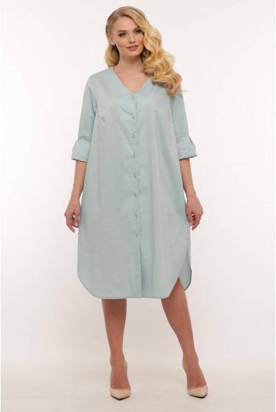Світло-оливкове легке плаття міді великих розмірів