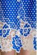 Блакитне привабливе принтоване плаття міді для повних жінок