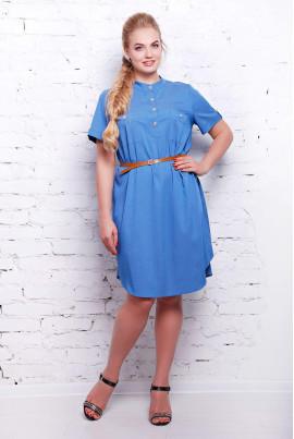Блакитне універсальне плаття міді великих розмірів