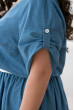 Блакитне просторе плаття з тонкого джинса