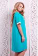 Бірюзова трендова сукня-туніка великих розмірів