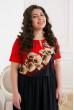 Чарівне довге плаття з червоним флористичним принтом