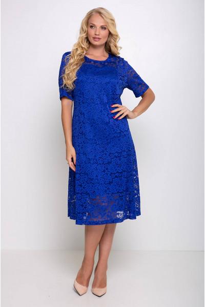 Ошатне лаконічне плаття міді кольору електрик