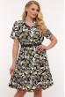 Оливкове легке практичне плаття для жінок з апетитними формами