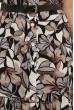 Коричневе привабливе плаття з квітковим принтом