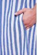 Синє просторе смугасте плаття для повних жінок