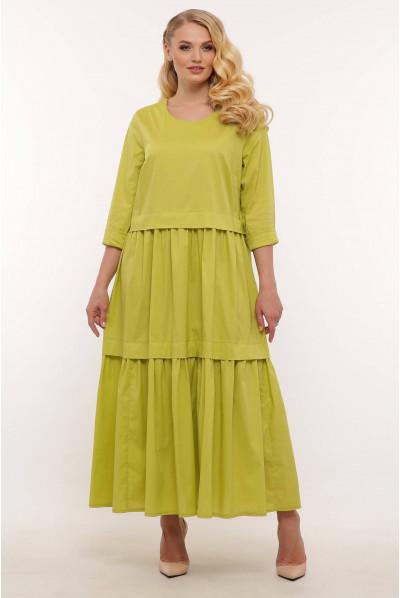 Жовте сонячне довге плаття великих розмірів