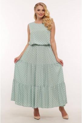 М'ятне заворожуюче плаття максі для жінок з пишними формами
