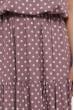 Темно-рожеве літнє довге плаття в білий горох для повних жінок