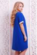 Легке спортивне принтоване плаття-туніка кольору електрик