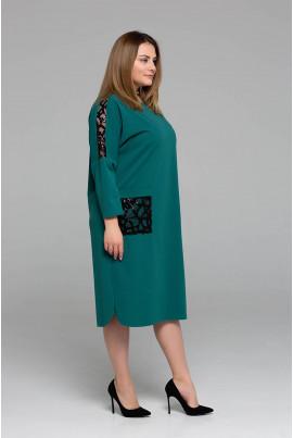 Бірюзове чарівне плаття великих розмірів