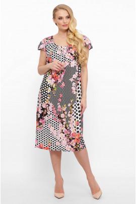 Повсякденна легка яскрава сукня для повних жінок