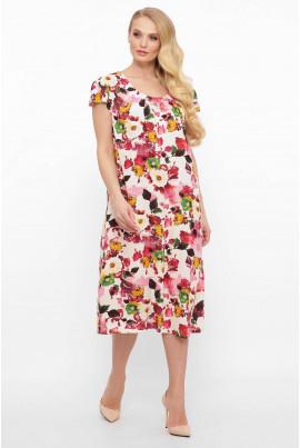 Біле практичне літнє плаття великих розмірів
