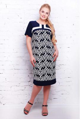Оригінальне трикотажне плаття в офіс
