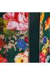 Оригінальна смарагдова сукня з вставкою принт троянди