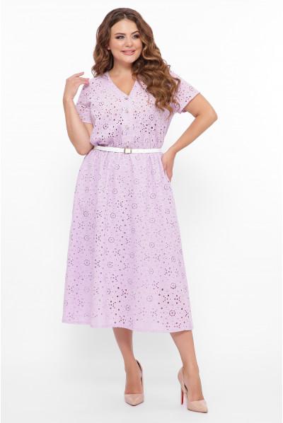Бузкове грайлива сукня міді з прошви