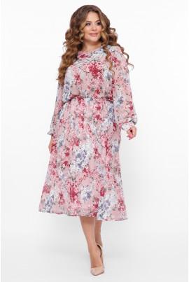 Рожева вишукана жіночна сукня максі