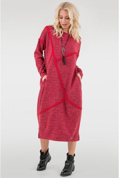 Червоне універсальне плаття міді