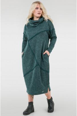 Зелене тепле плаття з начосом
