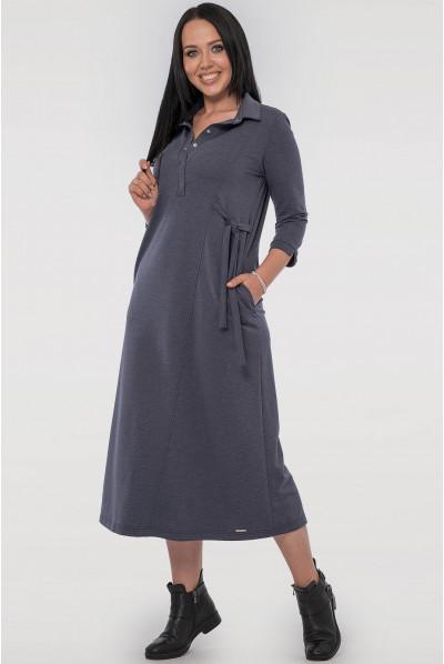 Універсальне плаття міді кольору джинс