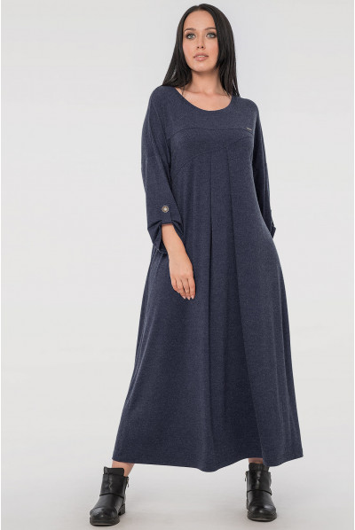 Синє універсальне плаття міді