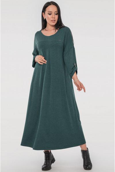 Зелене трикотажне плаття міді