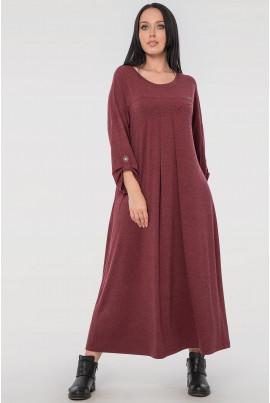 Бордове стильне просторе плаття