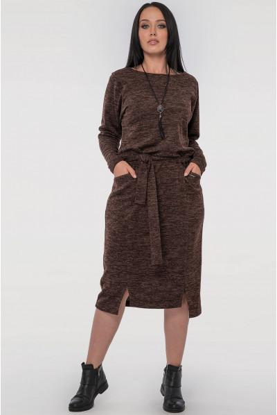 Шоколадне універсальне плаття міді
